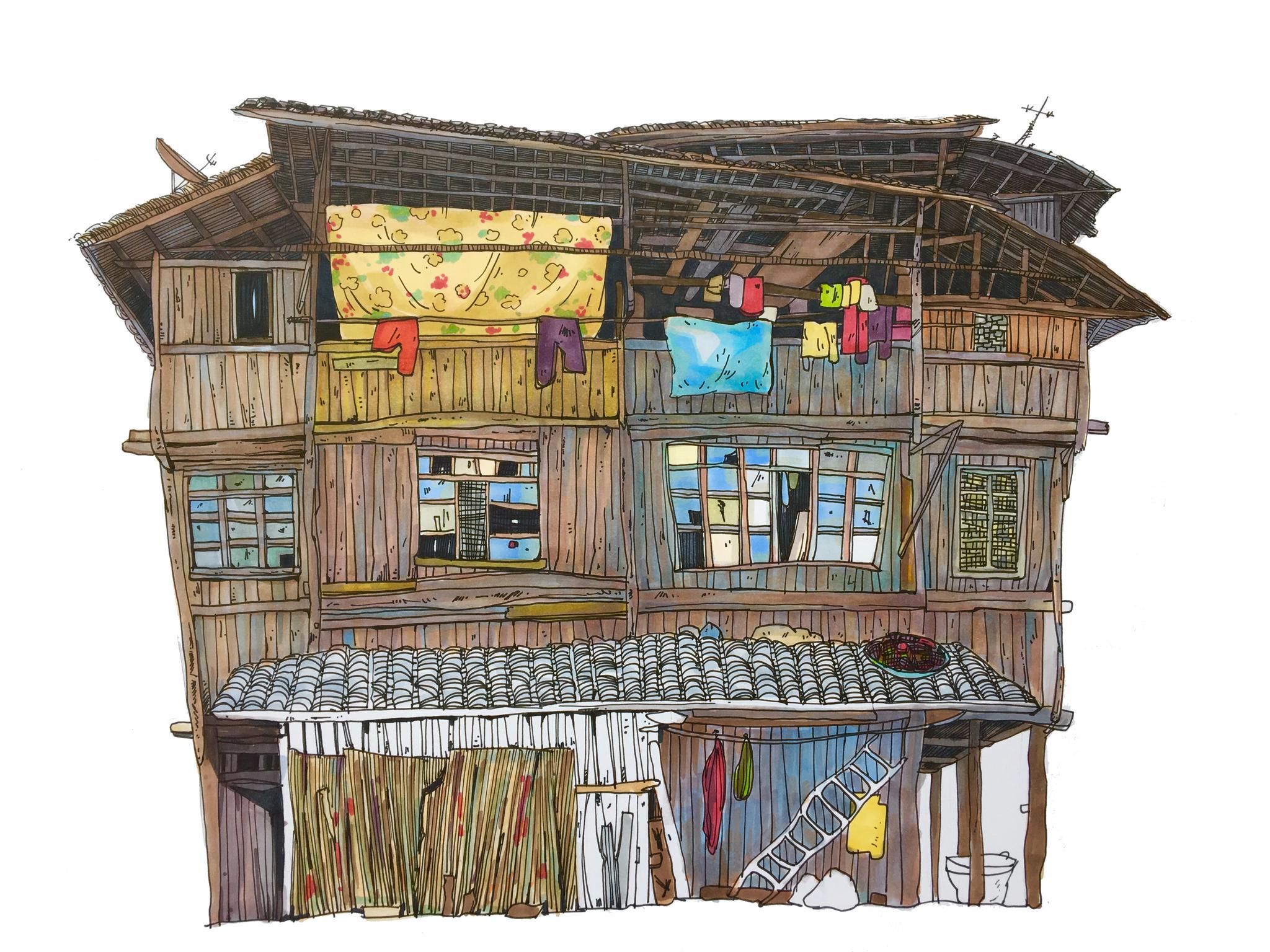 建筑手绘 材料:马克笔 170g马克笔纸 作者@来池