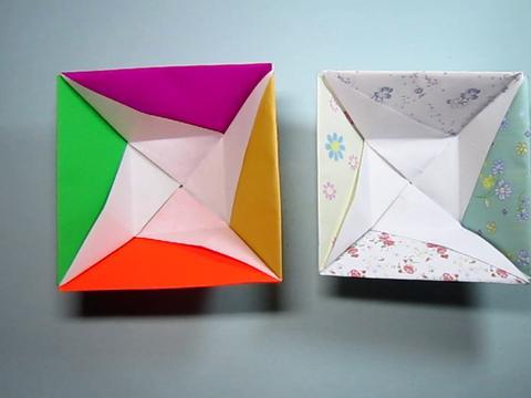 儿童手工折纸小方碟,简单又漂亮方碟小饭碗的折法,diy手工制作