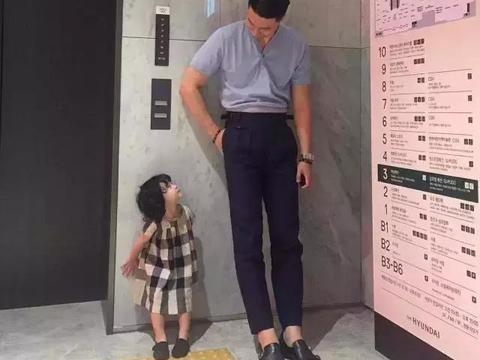 赢在起跑线,张梓琳3岁女儿身高已到母亲腰部,张梓琳身高1米8