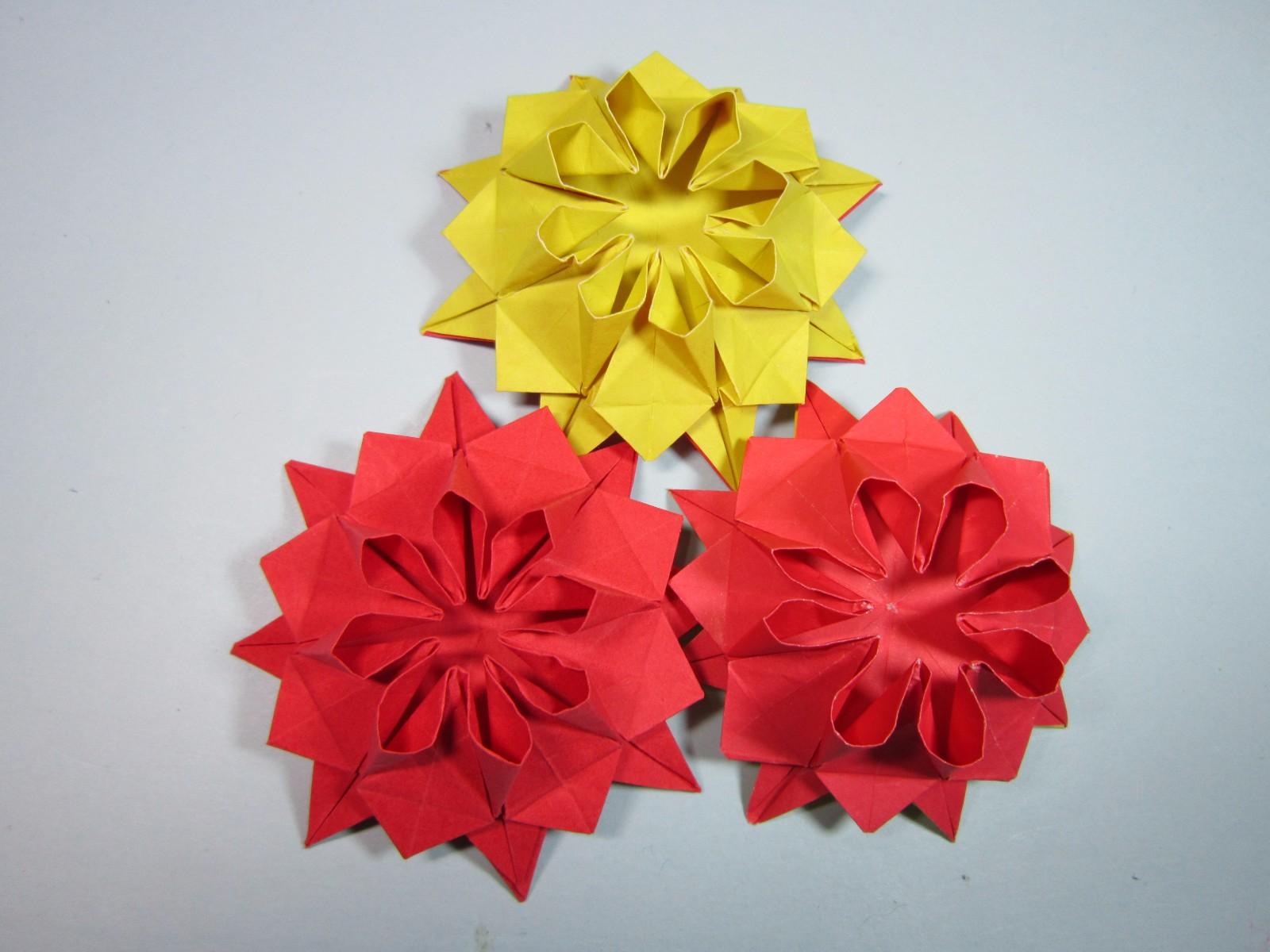 折纸大全简单又漂亮花,一张纸就能学会太阳花的折法