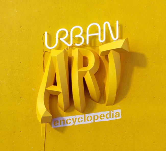 西班牙marc urtasun创意3d字体设计.