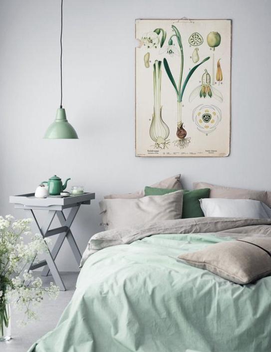 卧室壁画手绘有寓意