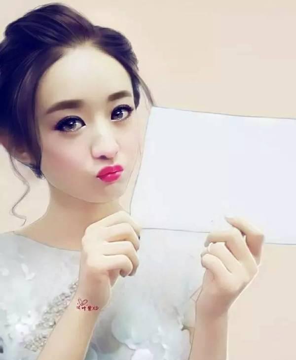 最美水彩图, 赵丽颖可爱 陈妍希最甜 张馨予很美在她面前跪定了