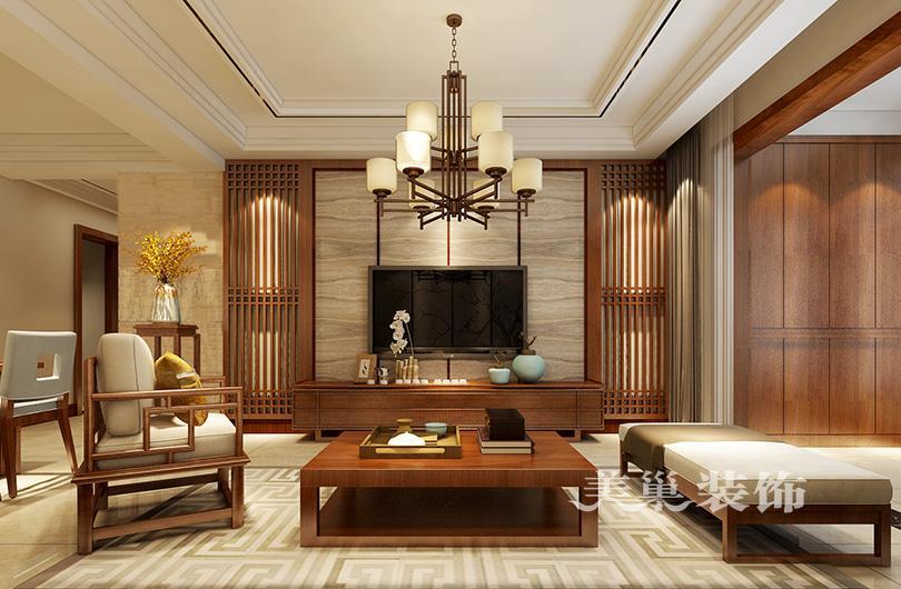 18套新中式风格电视背景墙设计效果图 你家的中国风也是世界的不图片