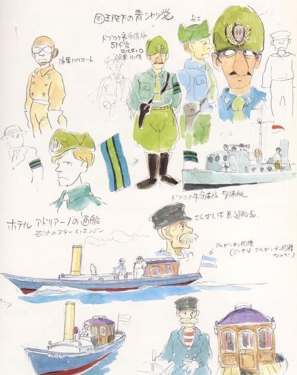 手绘作品 宫崎骏四十年动漫,带有温度的原画手稿