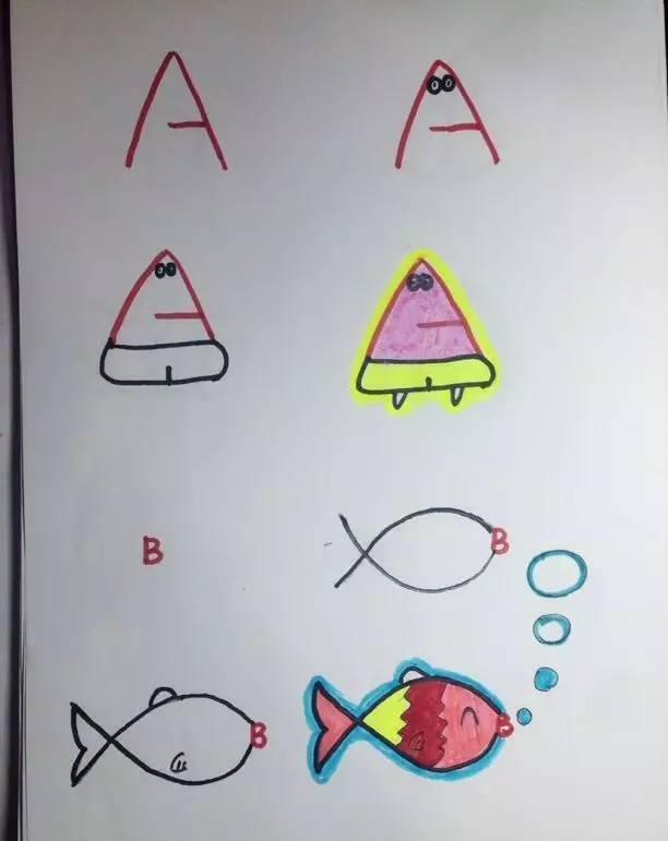创意字母简笔画——让孩子轻轻松松学英语