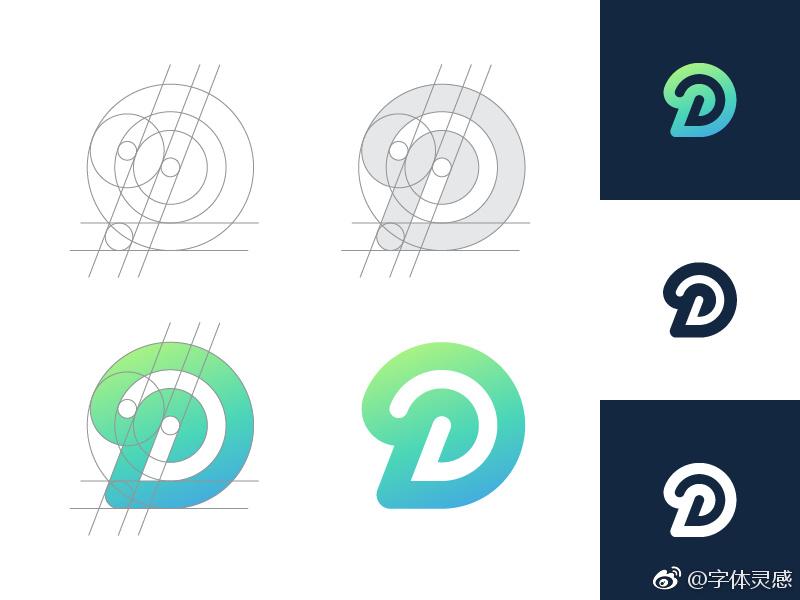 d字母logo设计图片