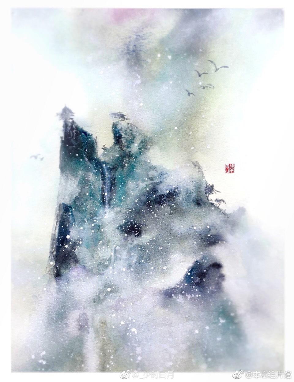 古风淡雅意境美图风景_烟雾缭绕仙气飘飘图片