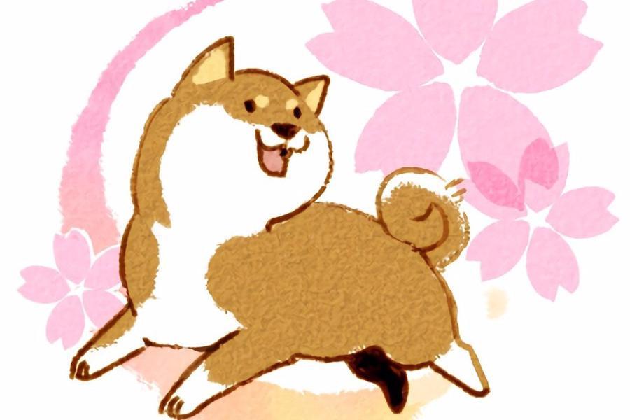 手机壁纸第59期:手绘可爱的柴犬,前方高能亮瞎你的钛金眼
