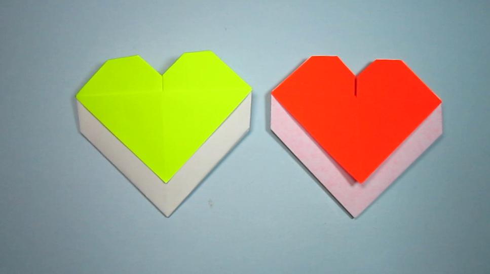 纸艺手工,简单的折纸信封,2分钟学会爱心信封的折法