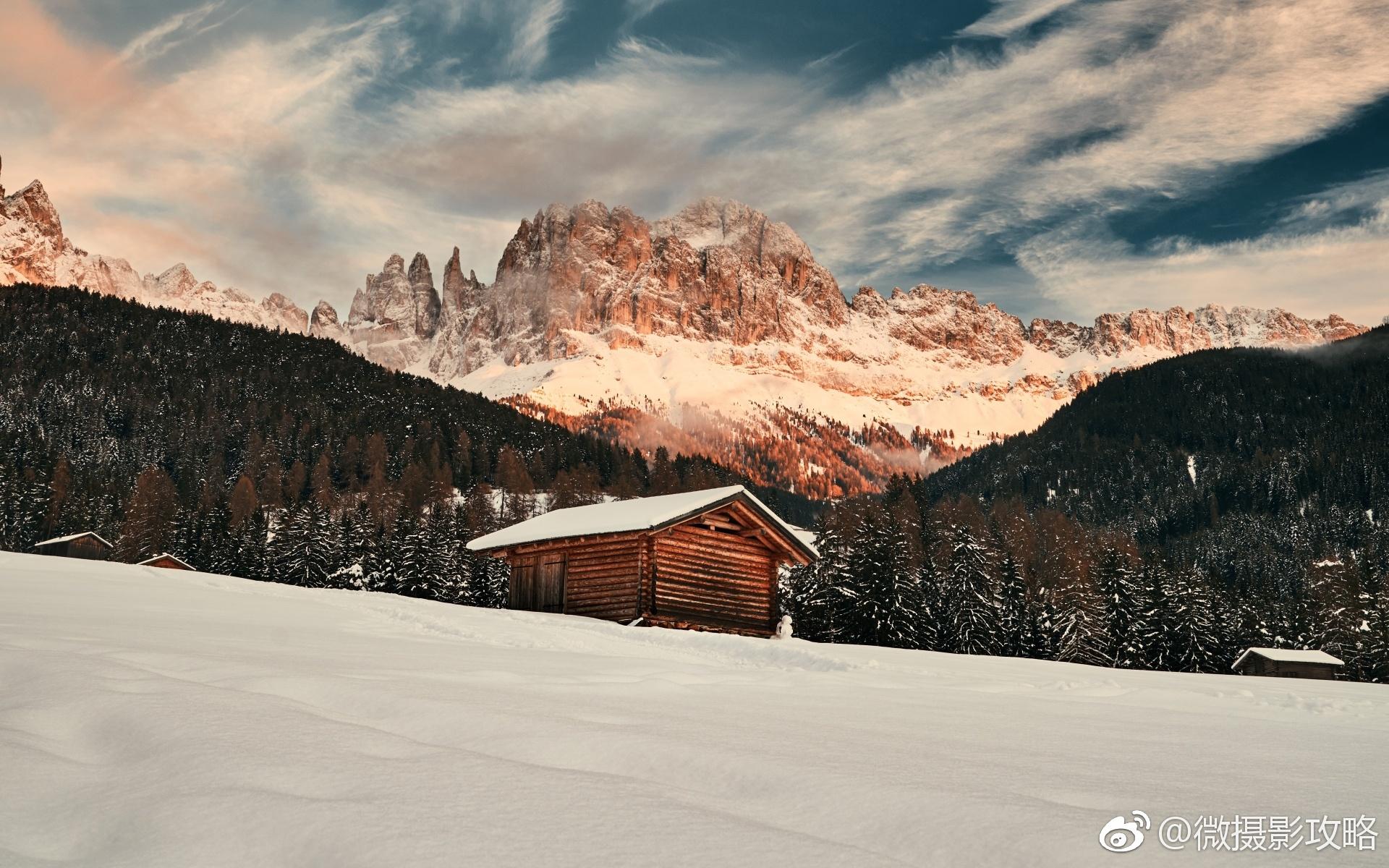 可爱小清新风景图片是一组关于雪山的风景摄影图片