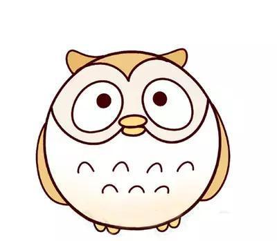 大眼猫头鹰第一步 第三步 可爱又简单的小动物,几笔就ok了,会了吗?图片