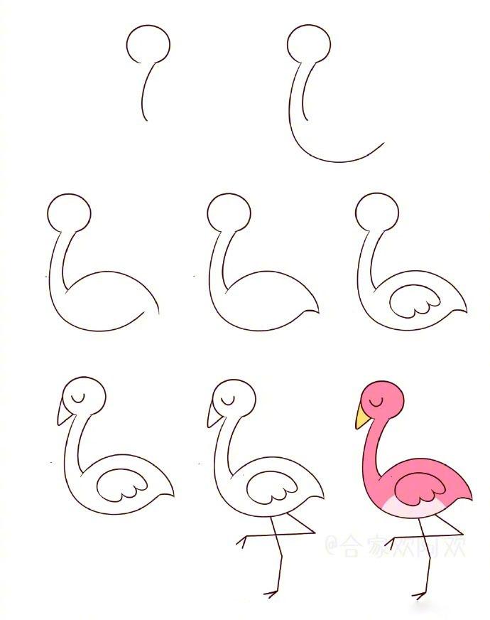 一组萌萌的简笔画小鸟素材_新浪看点