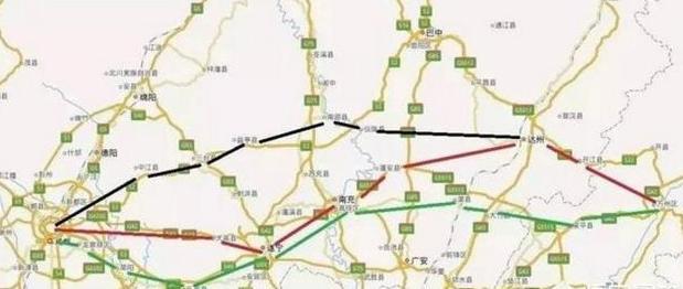 成遂南达万高铁路线迟迟确定不下来,拟定的3种路线哪种最合理