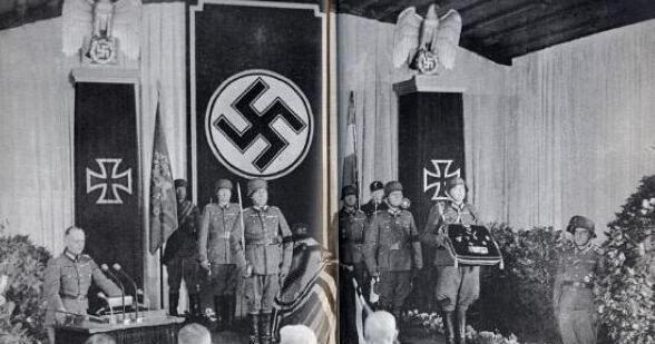 实拍沙漠之狐隆美尔葬礼: 希特勒未参加, 墓地