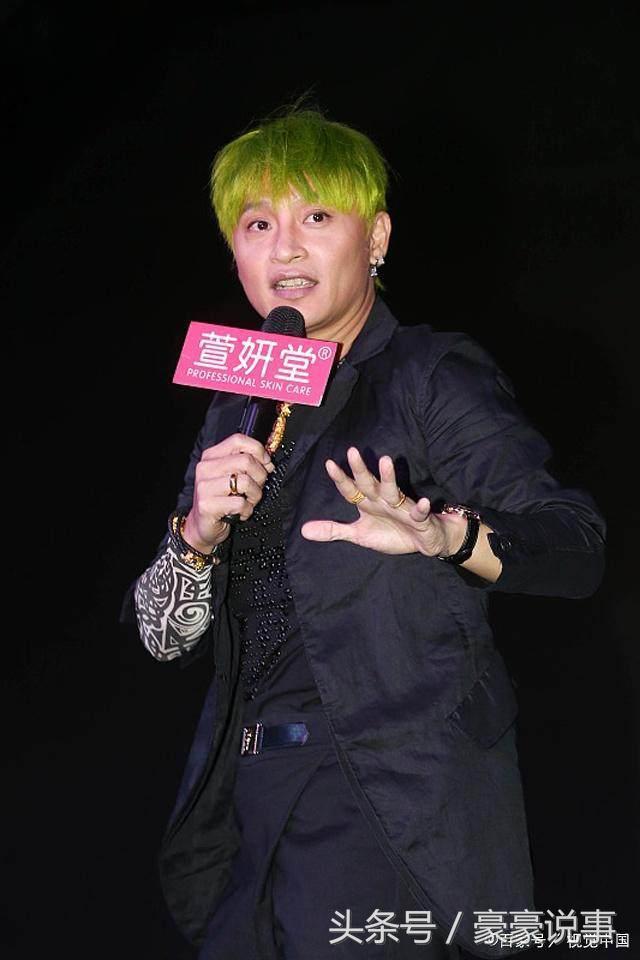 染过绿色头发的明星,鹿晗最帅,张杰的会发光,他的简直没谁了