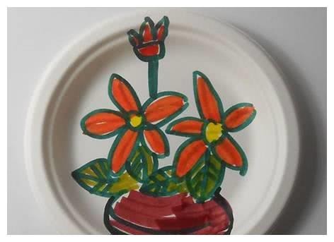 幼儿园创意纸盘画,美美哒!图片