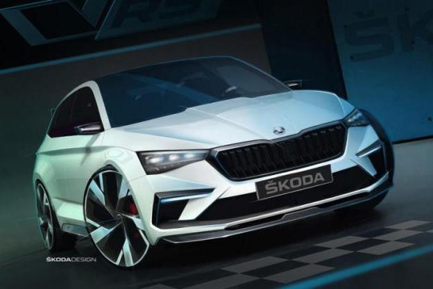 斯柯达VISION RS预告图公布 巴黎车展首发