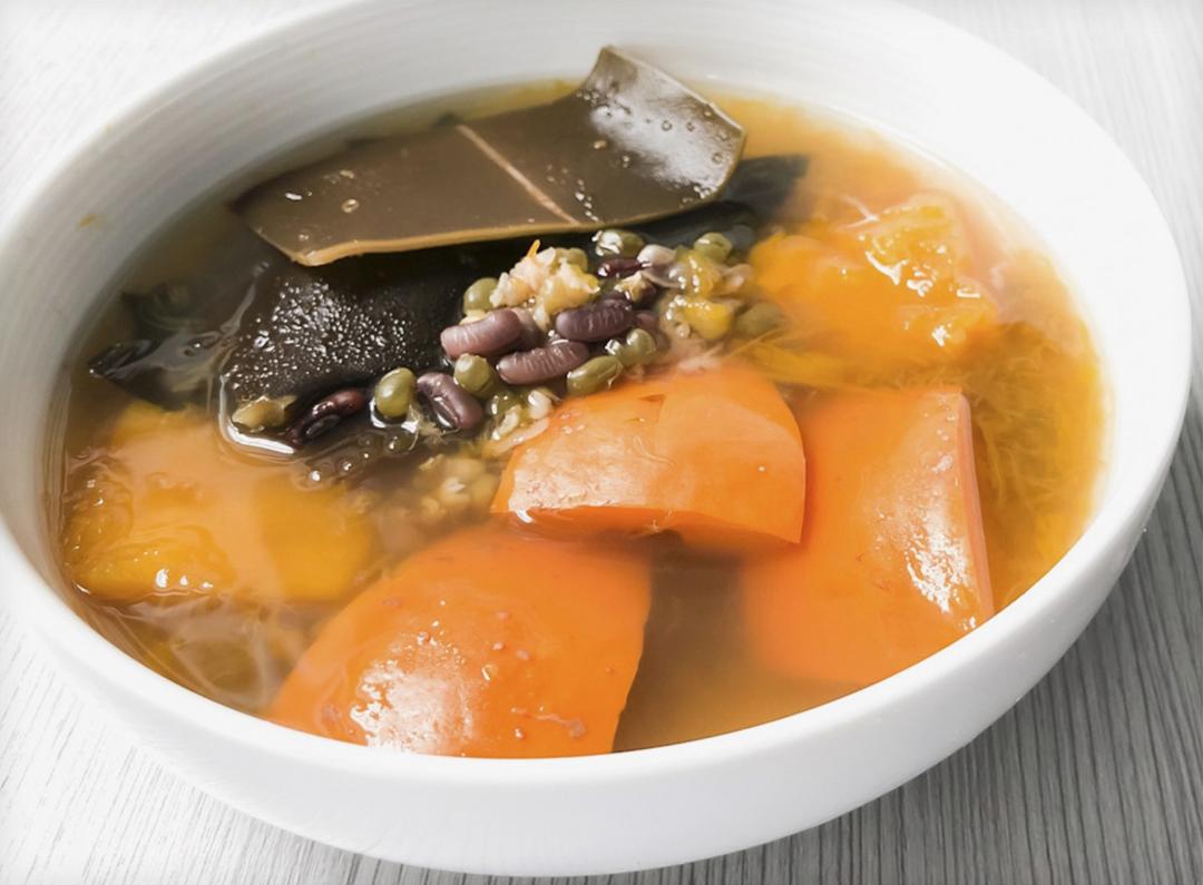 汤水a汤水食谱家常-婴儿红南瓜食谱汤,消暑去肿月的海带十七个做法绿豆图片