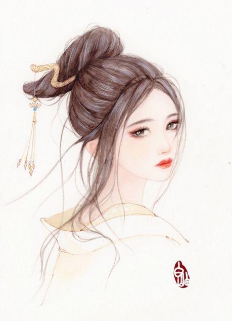 水彩人物 | 古风女子水彩手绘教程