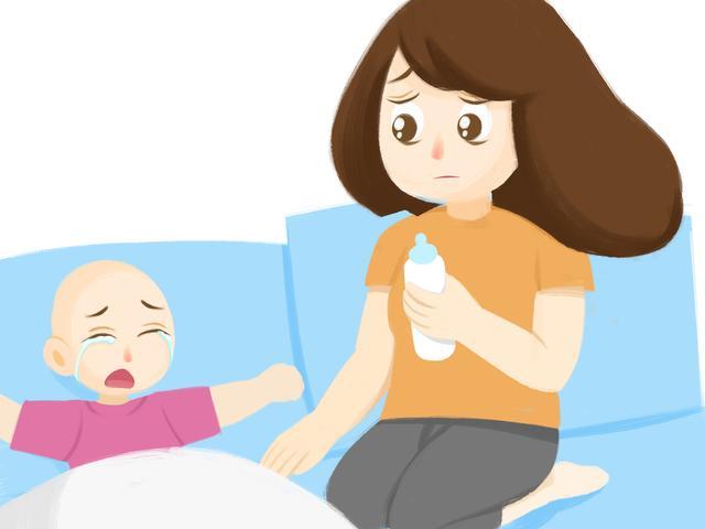 妈妈抱婴儿卡通图片