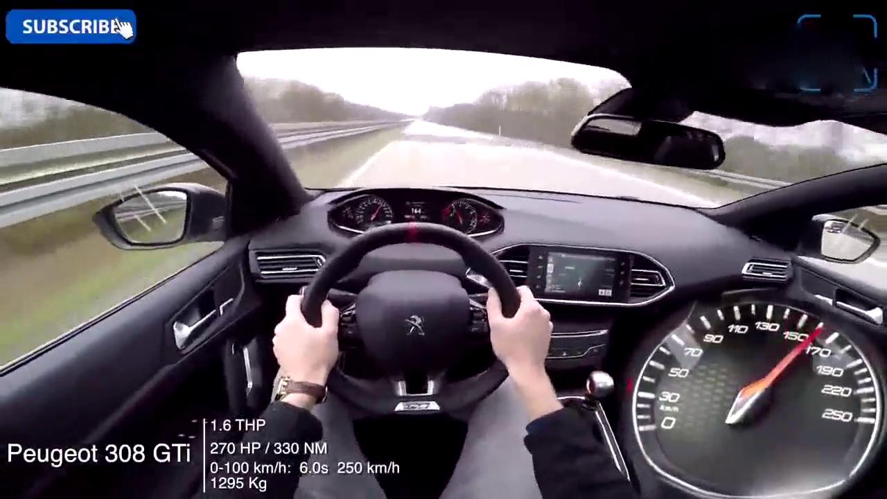 实测小钢炮标志308 GTI上德国高速,看来是我们小瞧了法系