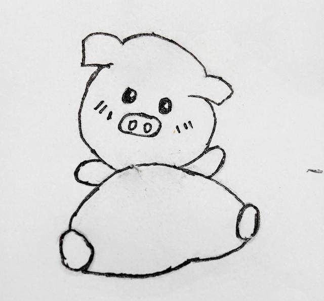 幼儿创意简笔画|可爱的猪猪,画起来并不难哦