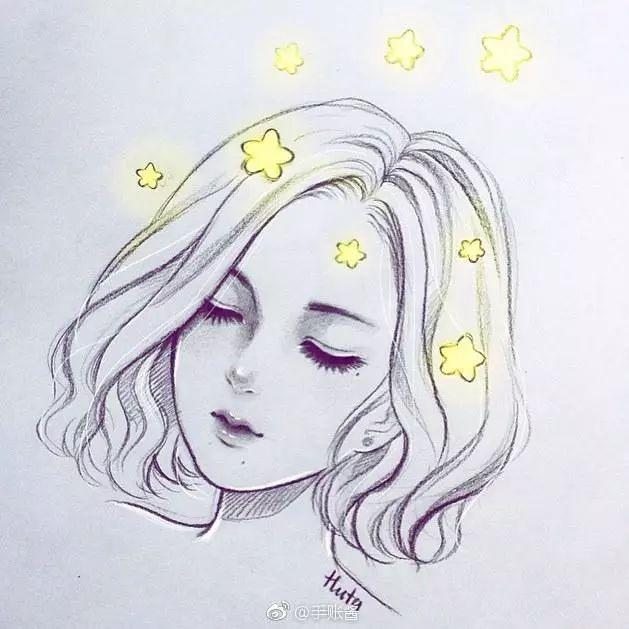 【彩铅手绘】一组卡通小姐姐,头像铅笔手绘,要来一起画吗?