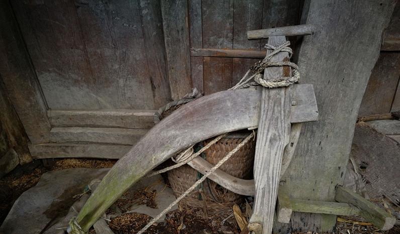 农村传统老式的六种农具,图四谁能告诉我叫什么?做什么用的?图片