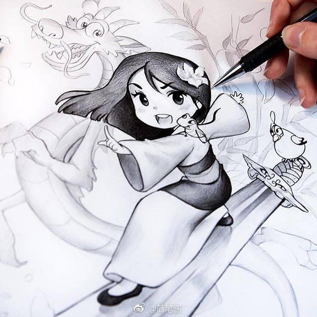 可爱的手绘动漫小姐姐(插画师 nashi)