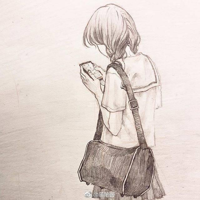 一组铅笔画手绘小姐姐,这个风格好喜欢!(ins:novoduce)