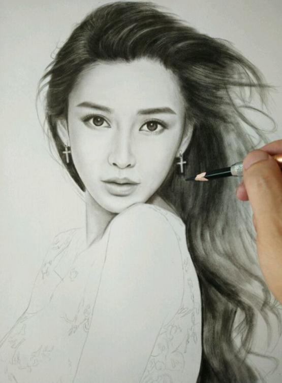 明星手绘照:赵丽颖,杨幂,baby,怎么还是这么美?