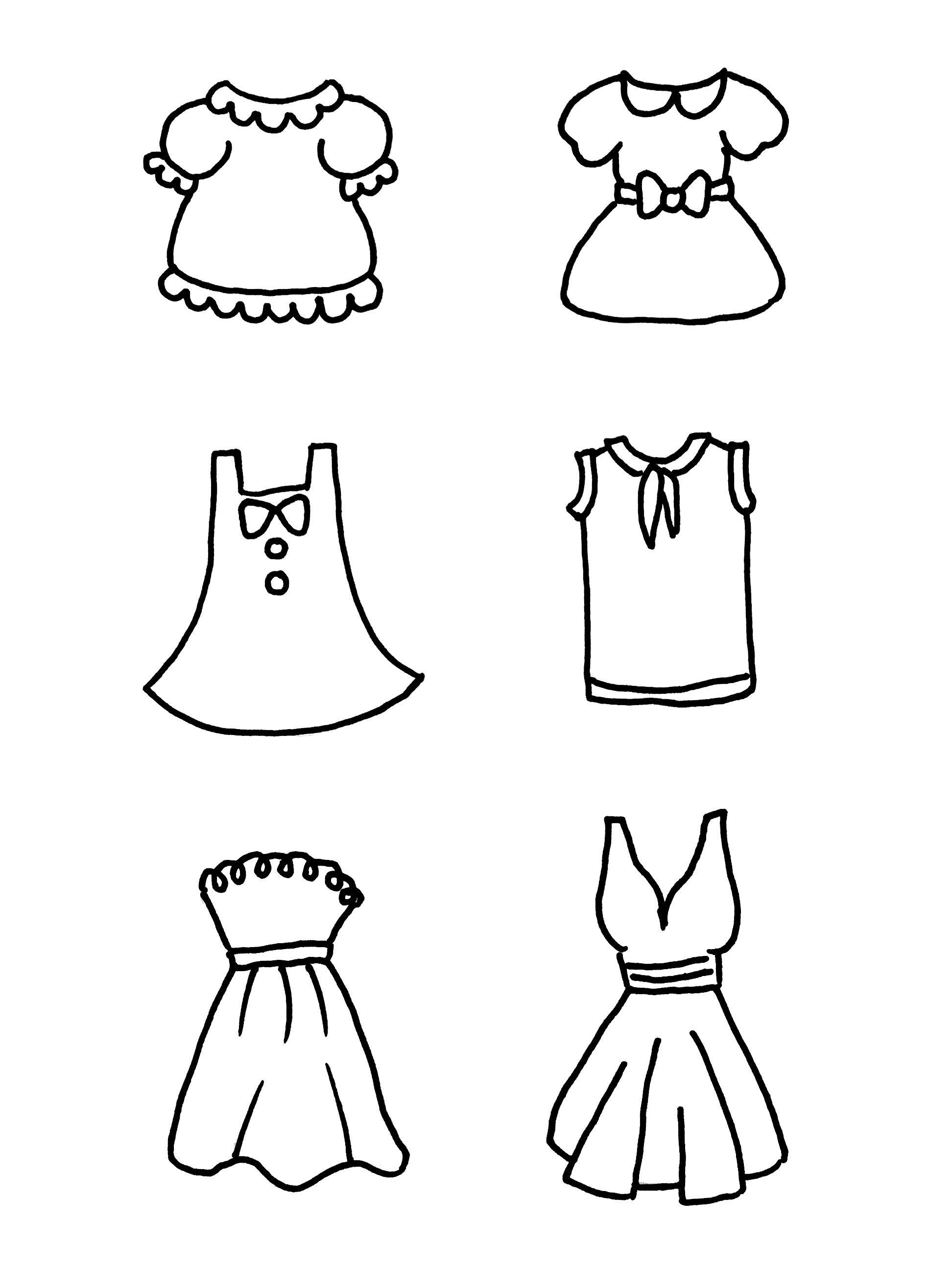 衣服简笔画大全_一步一步教你画古装裙图片