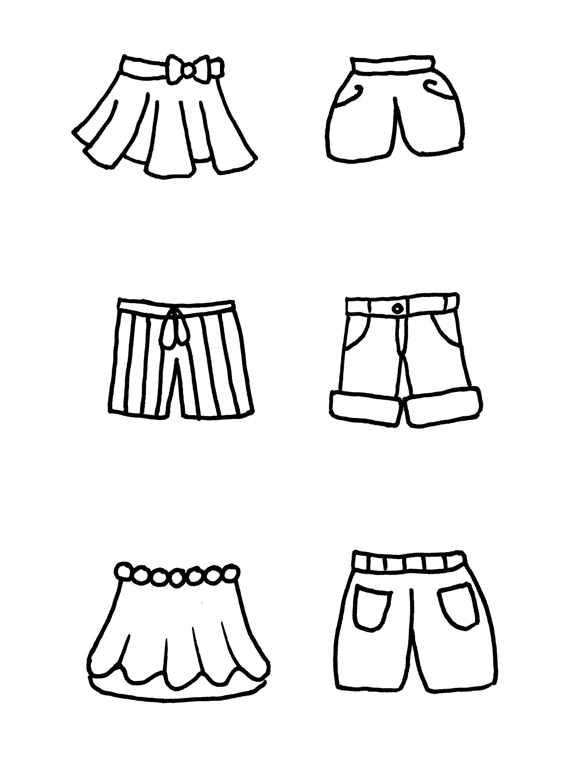 热乎乎的 原创卡通服装衣服简笔画卡通画手账素材来啦 作者