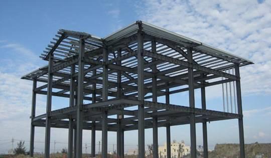 钢结构别墅小院建造图片详解