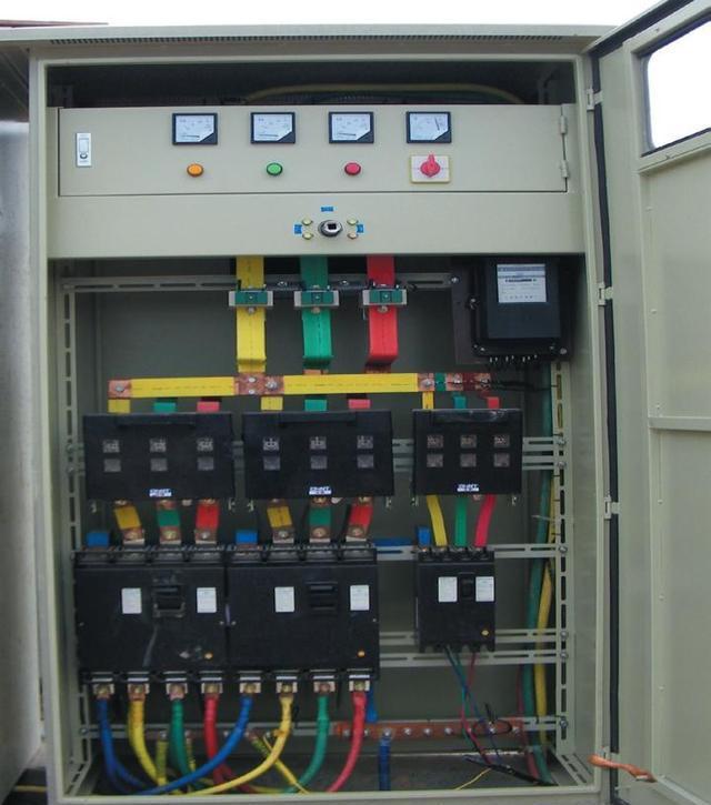 380v配電柜接線實物圖