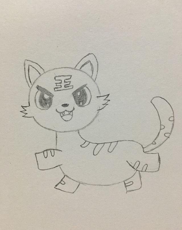 简笔画——小老虎的画法