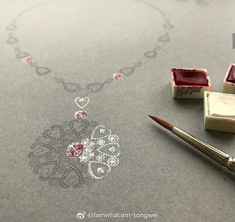 珠宝首饰设计手绘