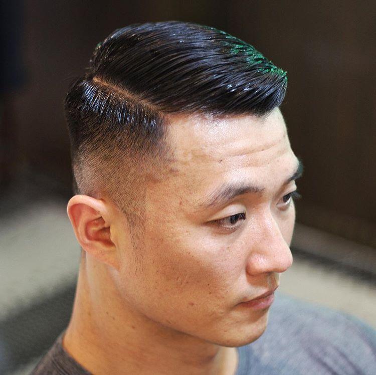 小背头型_精选男生复古背头,油头发型,要有型,就这样剪