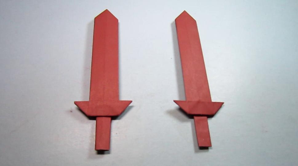折纸大全简单又漂亮宝剑,看一遍就能学会宝剑的折法