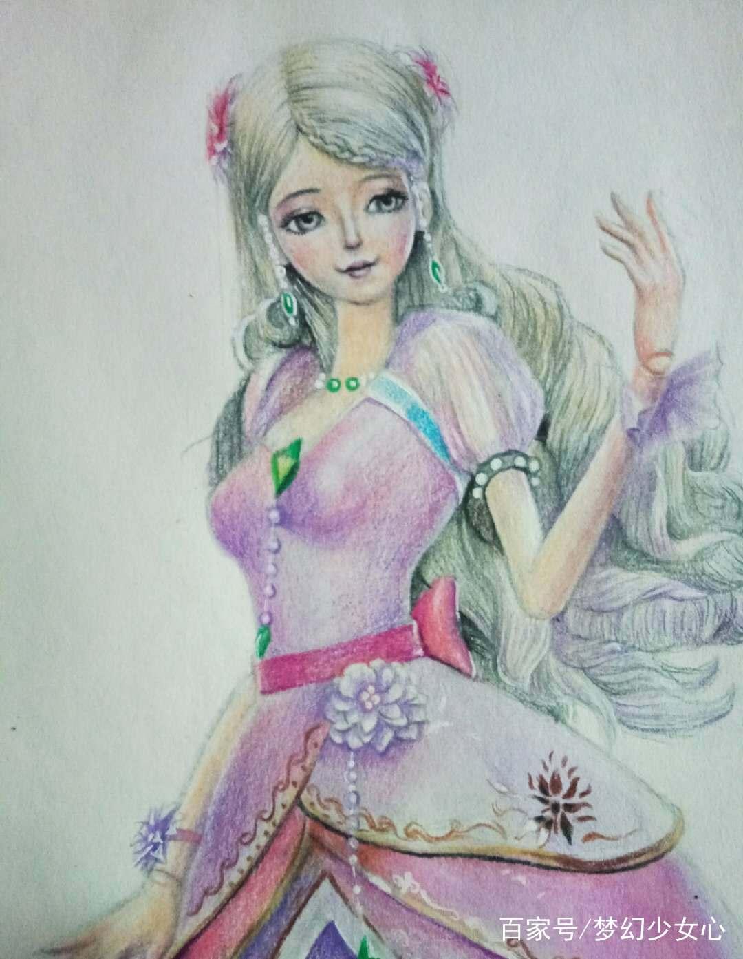 《精靈夢葉羅麗》最逼真手繪畫像,花仙子希娜溫柔,冰公主最美