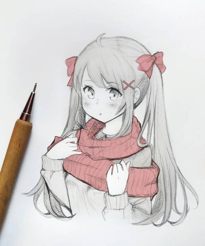 手绘动漫少女 | 插画师 meiriri vega