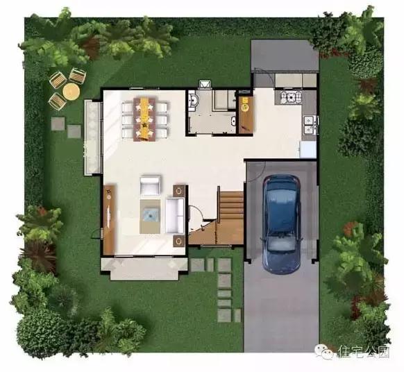 宽5x长15米房屋效果图