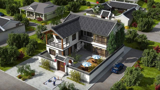 14套2018年最受欢迎农村别墅,3层大气2层实用,平层造价16万起!