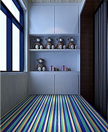 小空间大利用 阳台储物柜装修效果图