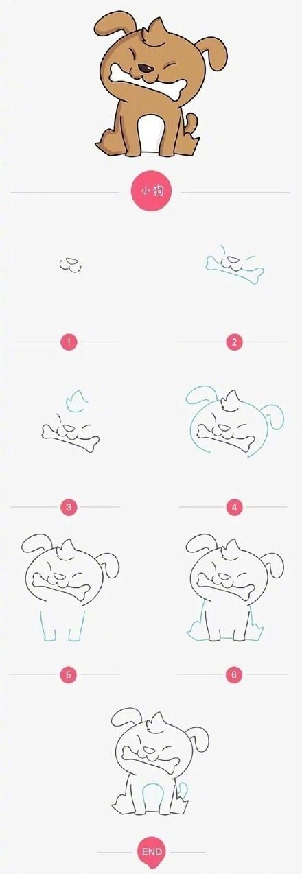 可爱的小动物简笔画哦,无 聊时候可以和宝宝一起画