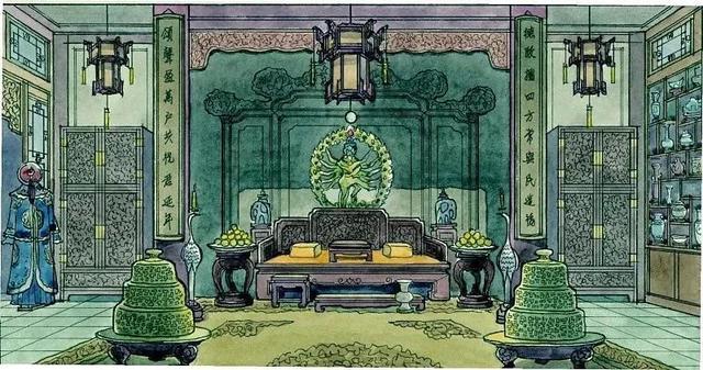 故宫彩铅手绘图