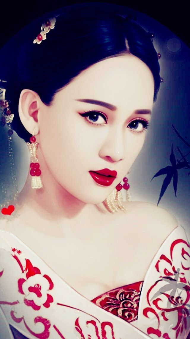 女星古装最美手绘照,赵丽颖妖艳,热巴妩媚,杨幂惊为