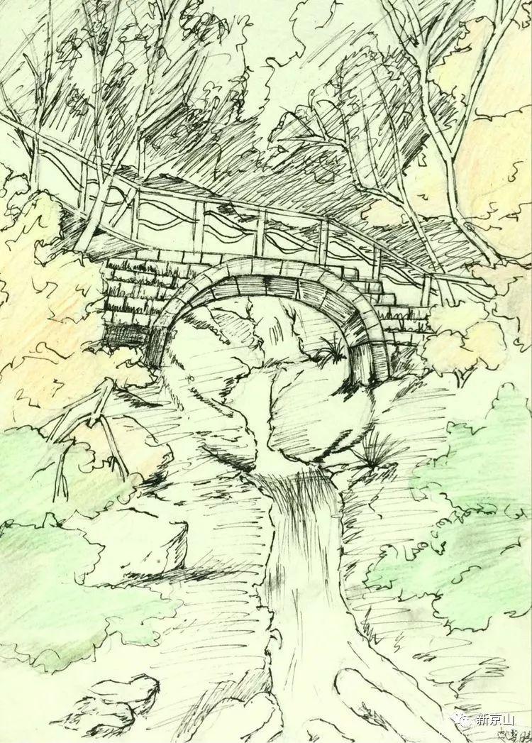 京山中学家乡用绘画作品教教学生、赞美a中学生电子版浙畅想材科学版初中图片