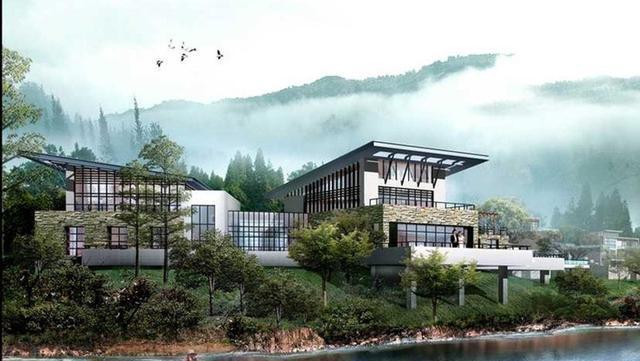 新中式别墅外观效果图